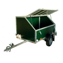 Skříňový přívěsný vozík Craft 08 profi 2 nebrzděný, 750 kg