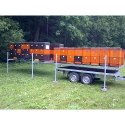 Přívěsný vozík pro včelaře VCARGO D 20.3 brzděný, 2000 kg