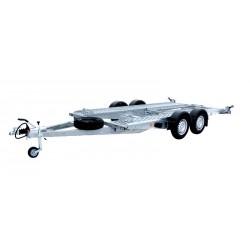 Autopřepravník PA1 brzděný, 2000 kg, 4000 x 1920 mm, 100 km/h