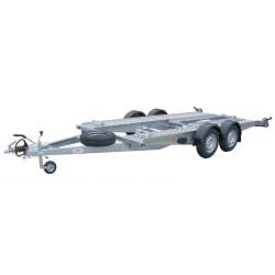 Autopřepravník PA1 ALU brzděný, 2460 kg, 4000 x 1920 mm, 130 km/h