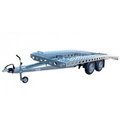 Autopřepravník PAV1 brzděný, 2000 kg, 4010 x 1920 mm, 100 km/h