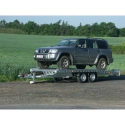 Autopřepravník PAV1 brzděný, 2000 kg, 4010 x 2020 mm, 130 km/h