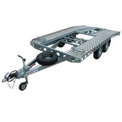 Autopřepravník PAV1 ALU brzděný, 2460 kg, 4010 x 2020 mm, 130 km/h