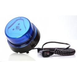 Maják magnetický LED modrý WAS, kabel 3m, autozástčka