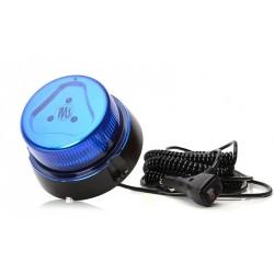 Maják magnetický LED modrý WAS, kabel 7m, autozástčka