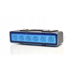 Výstražná záblesková svítilna modrá WAS, barevné sklíčko
