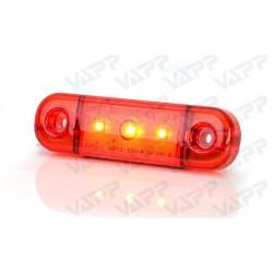 Svítilna zadní obrysová LED WAS W97.1, 12-24V, plochá