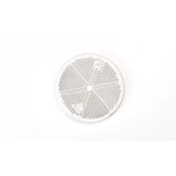 Odrazka bílá kulatá pr. 61 mm WAS samolepicí