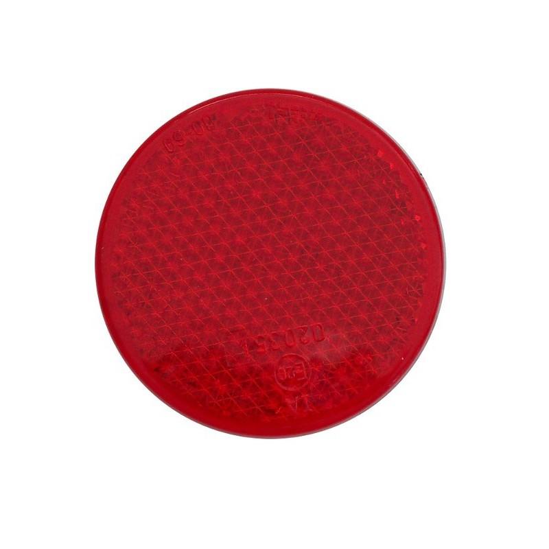 Odrazka červená kulatá Wital pr. 62,5 mm se šroubkem