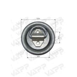 Kotevní miska pr. 125 mm (zápustná, 1000 kg)