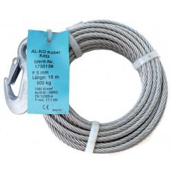 Lano 10 m AL-KO k navijáku OPTIMA 501 a BASIC 450 / 500, pr. 5 mm (včetně háku)