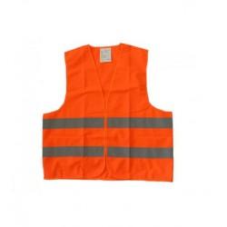 Bezpečnostní vesta s reflexními pruhy oranžová