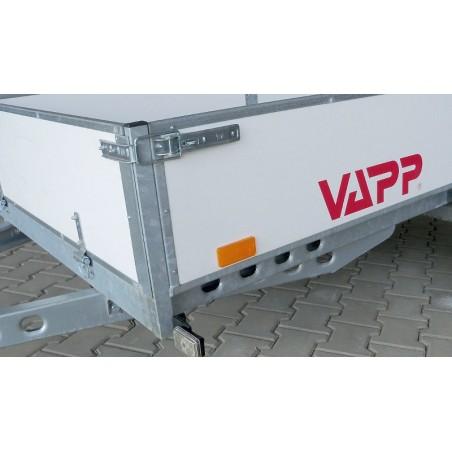 Sklopný přívěsný vozík PV1 nebrzděný, 2530x1530 mm, 750 kg