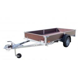 Přívěsný vozík PV1 PROFI brzděný, 2530x1530 mm, 1000 kg, 130km/h