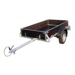 Přívěsný vozík DV 21 nebrzděný, 750 kg s předním otevíracím čelem