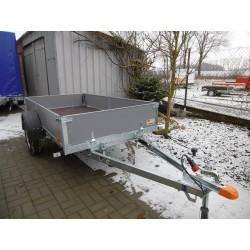 Sklopný přívěsný vozík PV PROFI 3 nebrzděný, 2530x1280 mm, 750 kg, zesílená náprava