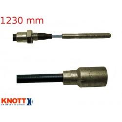 Lanovod brzdový KNOTT 1230 / 1440 mm, závit M8