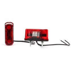 Osvětlení SPZ (registrační značky) LED červené WAS 245 (12-24V)
