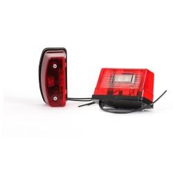 Osvětlení SPZ (registrační značky) LED červené velké WAS 247 (12-24V)