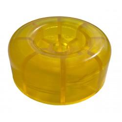 Koncovka rolny 4'' žlutá PVC, pr. 88 mm, d14,3 mm, l35 mm