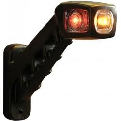Svítilna doplňková / boční obrysová LED WAS 238P, 12-24V, pravá, 187 mm