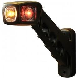 Svítilna doplňková / boční obrysová LED WAS 238L, 12-24V, levá, 187 mm