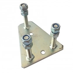 Držák rezervy pro kolo s roztečí 5x112 mm, montáž na bok / čelo přívěsu