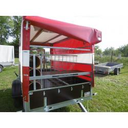 Přívěsný vozík pro hasiče VARIO A08.2 s plachtou 135 cm