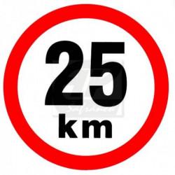 Rychlost 25 km/h -...