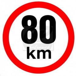 Rychlost 80 km/h - samolepka