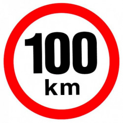 Rychlost 100 km/h - samolepka