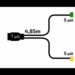 Kabeláž VAPP 4,85m/7-pól....