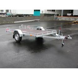 Sklopný přívěsný vozík Husky B 15.28 brzděný, 1500 kg