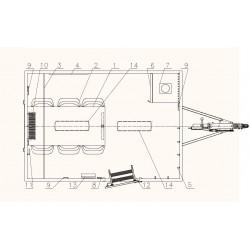 Stavební buňka Mobi 32-3200 brzděný, 1300 kg