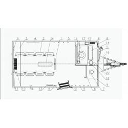 Stavební buňka Mobi 42-4201 brzděný, 1300 kg