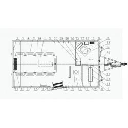 Stavební buňka Mobi 42-4213 brzděný, 1300 kg