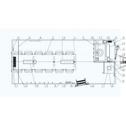 Stavební buňka Mobi 56-5601 brzděný, 2000 kg